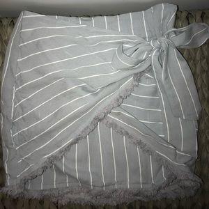 Tobi Light Blue Wrap Skirt size small